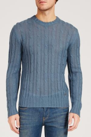 Голубой вязаный джемпер Gucci. Цвет: multicolor