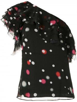 Блузка Poá с оборками Eva. Цвет: черный