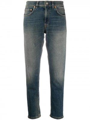 Прямые джинсы с эффектом потертости Dondup. Цвет: синий