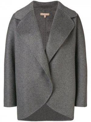 Короткое пальто оверсайз Michael Kors Collection. Цвет: серый