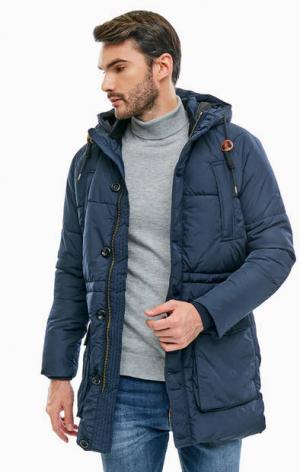 Синяя куртка с карманами и капюшоном Jack & Jones. Цвет: синий